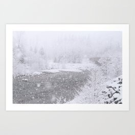 Light Snowfall Art Print