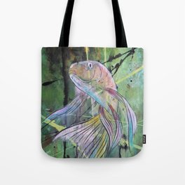 Green and Copper Koi 1 Tote Bag