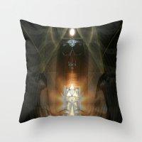 egypt Throw Pillows featuring Egypt by Filip Klein