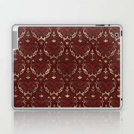 Persian Oriental Pattern - Red Leather and gold Laptop & iPad Skin