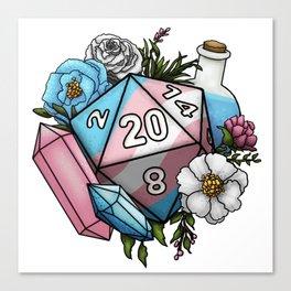 Pride Transgender D20 Tabletop RPG Gaming Dice Canvas Print