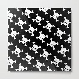 Skull Crossbones Symbol Metal Print