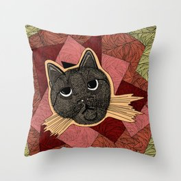 Cattitude: A cat with an attitude Throw Pillow