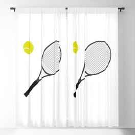 Tennis Racket And Ball 1 Blackout Curtain