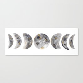 Watercolor Moon Phase Canvas Print