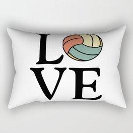 Volleyball Love - Vintage Sport Ball Design Rectangular Pillow