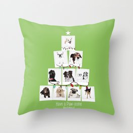 Have a Paw-some Holiday! Throw Pillow
