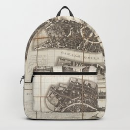 Vintage Map Print - Plan of the City of Venice (1834) Backpack