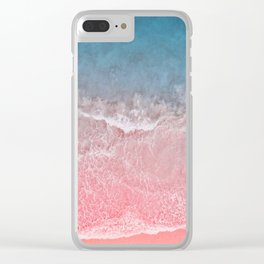 Bahamas pink blue Clear iPhone Case
