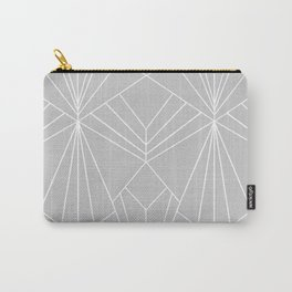 Art Deco on Grey - Large Scale Carry-All Pouch