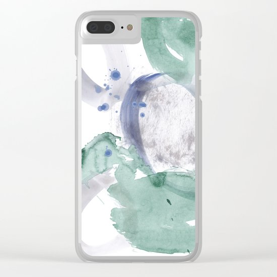 pastel on white Clear iPhone Case