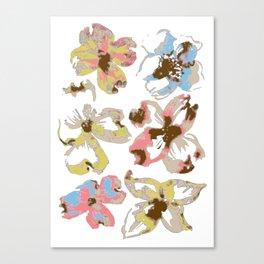 Silk Screen Floral Canvas Print