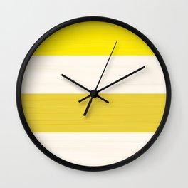 Brush Stroke Stripes: Lemon Meringue Pie Wall Clock