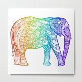 African elephant - rainbow Metal Print