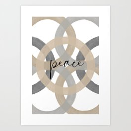 Circles Peace Art Print