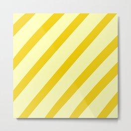 Sunny Stripes Metal Print