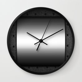 Faux steel plate with rivets Wall Clock