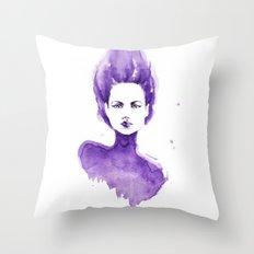Purple Water Faery Throw Pillow