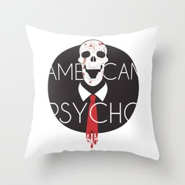 American Psycho-White Background Throw Pillow