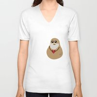 potato V-neck T-shirts featuring Plato Potato by geeksweetie