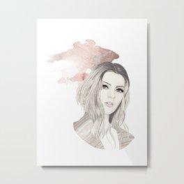 Portrait - Rose Gold Metal Print