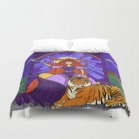 stained glass Duvet Covers featuring Stained glass by Rafapasta