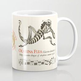 Ocarina Flea (Clarinas Andantus)  Chris Kluge Musical Insects of the World Coffee Mug