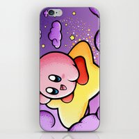 kirby iPhone & iPod Skins featuring Kirby by Jelly Soup Studios