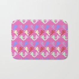 colorful cherubs pink Bath Mat