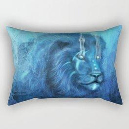 Blue Spirit Lion Rectangular Pillow
