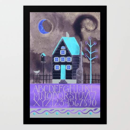 Moonlight Sampler Art Print