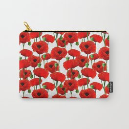 Red Poppy Pattern Carry-All Pouch