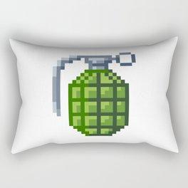 8-Bit Hand Grenade Rectangular Pillow