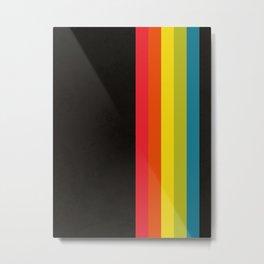Retro Camera Color Palette Metal Print
