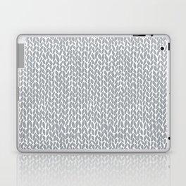 Hand Knit Light Grey Laptop & iPad Skin