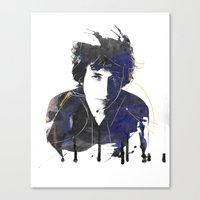 bob dylan Canvas Prints featuring bob dylan by manish mansinh