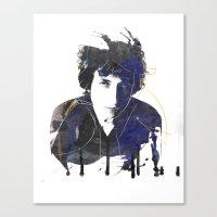 bob dylan Canvas Prints featuring bob dylan by manish mansinh