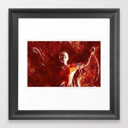 Burning Awake Framed Art Print
