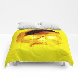 Yellow Skull Comforters