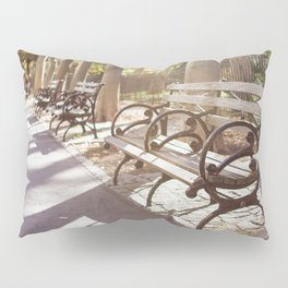 New York City Park Bench Moments Pillow Sham