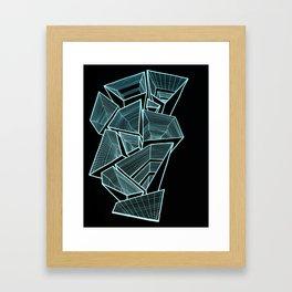 Pockets - Inverted Blue Framed Art Print
