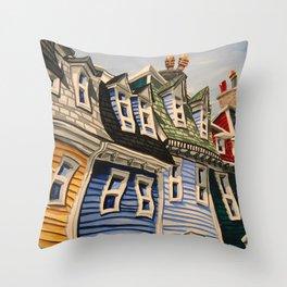 Prescott Street (Rooftops) Throw Pillow