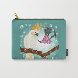 Sulphur-crested cockatoo and Tecomanthe Carry-All Pouch