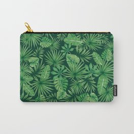 Tropical Floral Botanical Jungle Leaf Plants Nature Pattern Carry-All Pouch