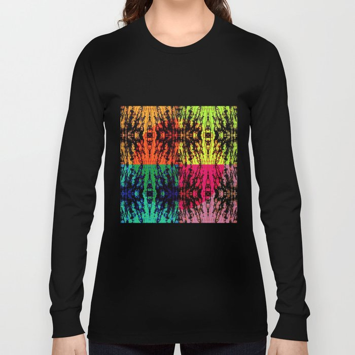 4 different squares Long Sleeve T-shirt