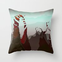 occult Throw Pillows featuring Occult Summit by Sean Thomas McDowell