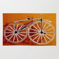 bike Area & Throw Rugs featuring Bike by CrismanArt