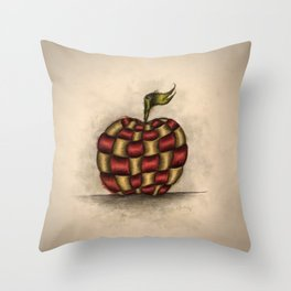 The Patchwork Apple Throw Pillow