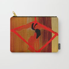 Bright Ribbon on a Fine Grain Carry-All Pouch