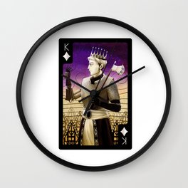 King of Diamonds (Dark) Wall Clock